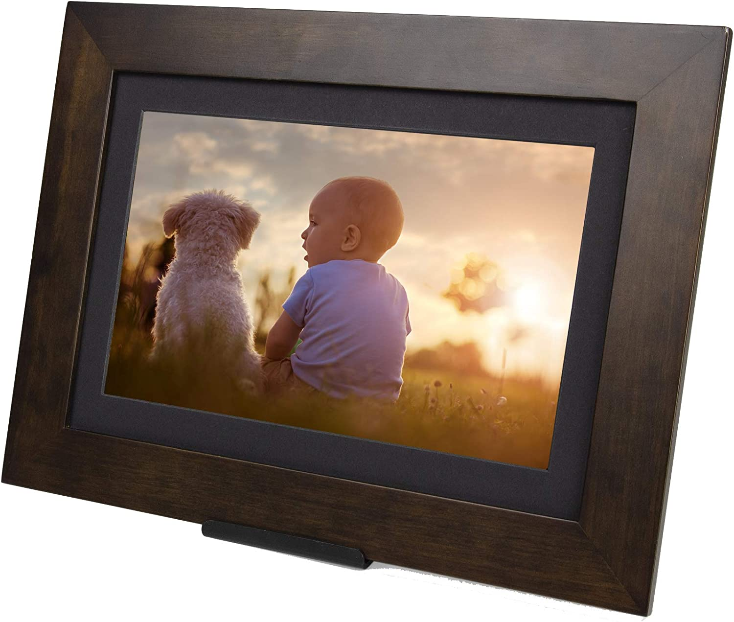 8 GB Android 10.1, Espresso Send Pics from Phone to Frame 1080P Holds Over 5,000 Photos iOS HD PhotoShare Friends and Family Smart Frame Digital Photo Frame WiFi 1-5 Day Shipping