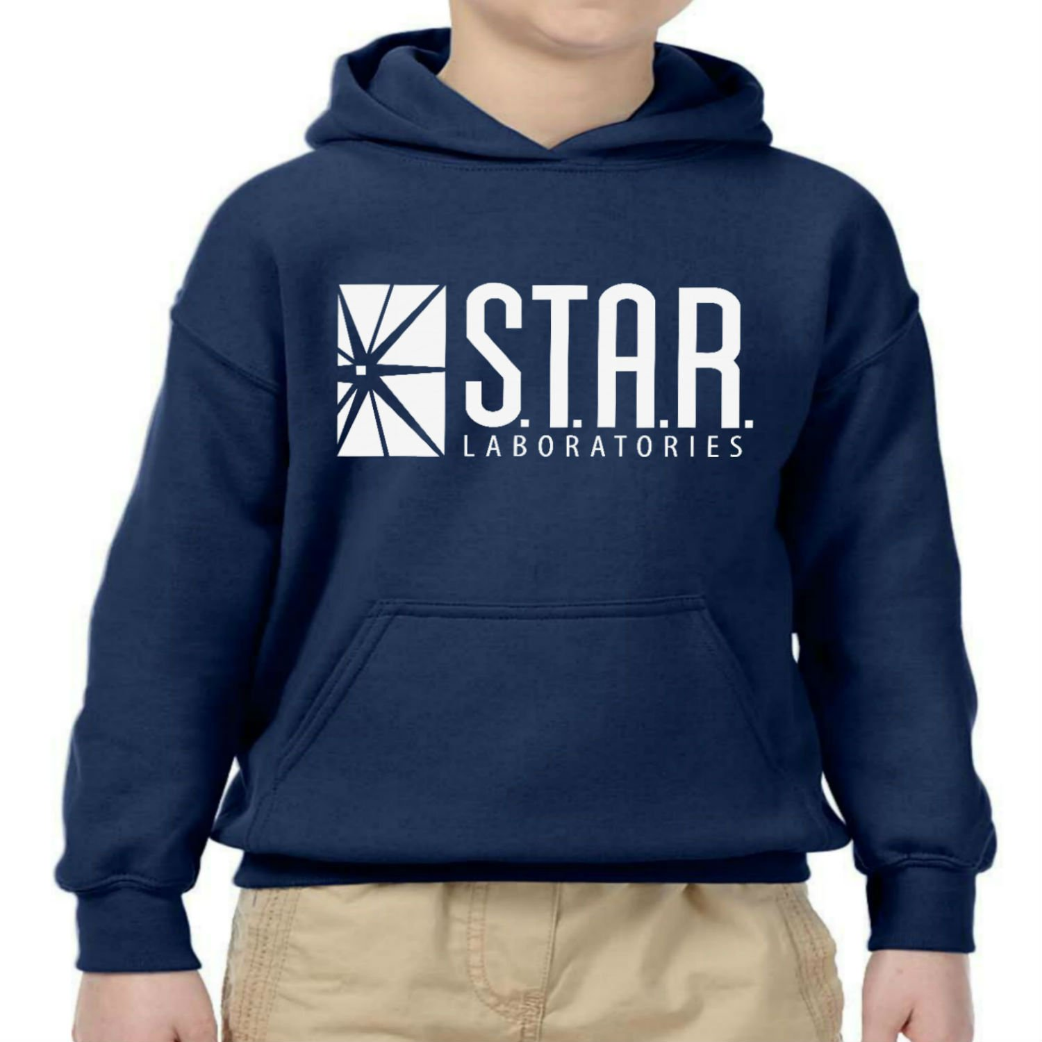 fresh tees Star Laboratories S.T.A.R. Labs Youth Hooded Sweatshirt