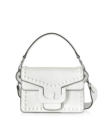 08dace89b81b Coccinelle Women's E1dm5120201h10 White Leather Handbag: Amazon.co ...