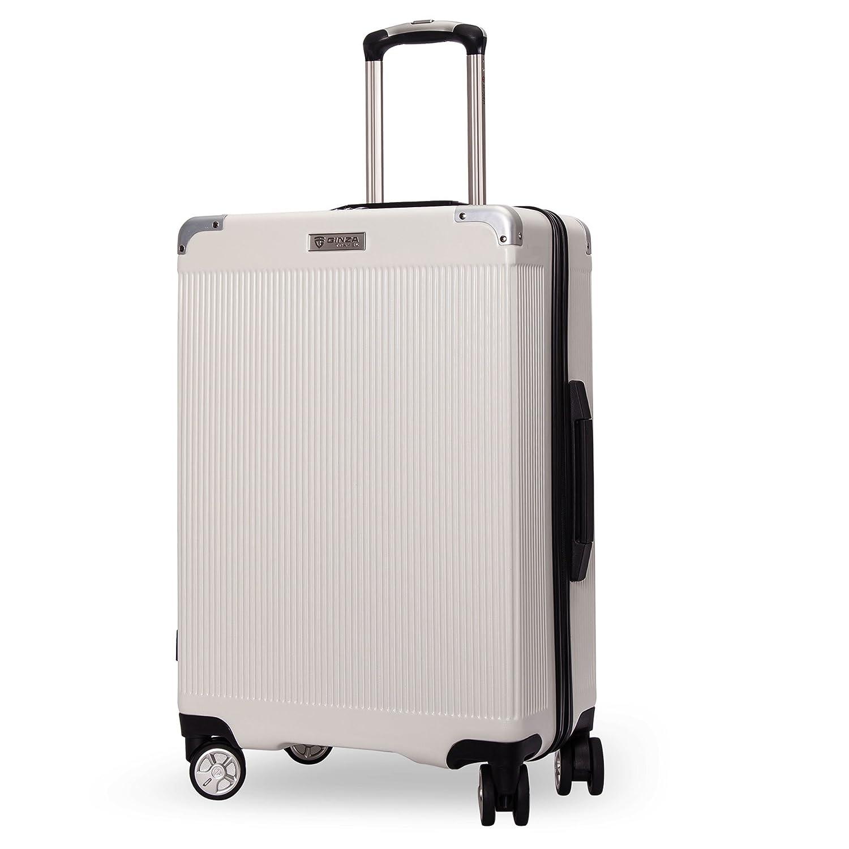 クロース(Kroeus) スーツケース ファスナー式 大型キャスター 8輪 静音 キャリーケース 大容量 軽量 旅行 出張 TSAロック搭載 エンボス加工 傷に強い ソフトなハンドル 取扱説明書付 B078QK3LZM 2XL|ホワイト ホワイト 2XL