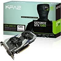 KFA2 GeForce GTX 1060 OC PCI-E Gaming-Grafikkarte, 6GB GDDR5, schwarz