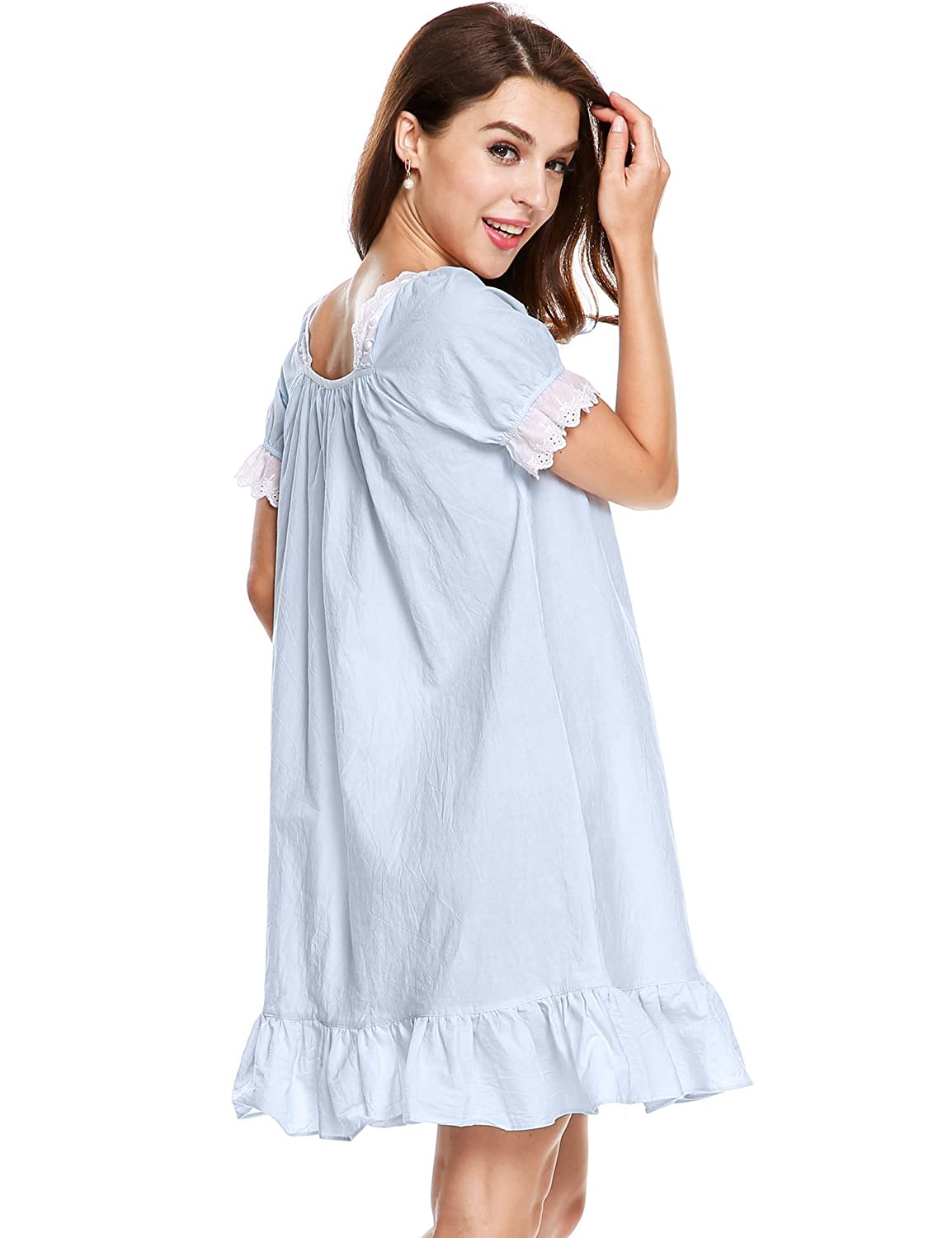 Avidlove Womens Cotton Victorian Nightgown Martha Sleep Shirt Dress *ALK004996
