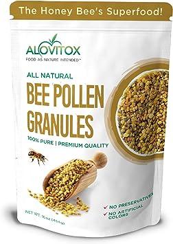 Alovitox los gránulos de polen de abejas | 100% pura, polen de abeja natural en bruto - los antioxidantes, proteínas, vitaminas b6, b12, cya, ...