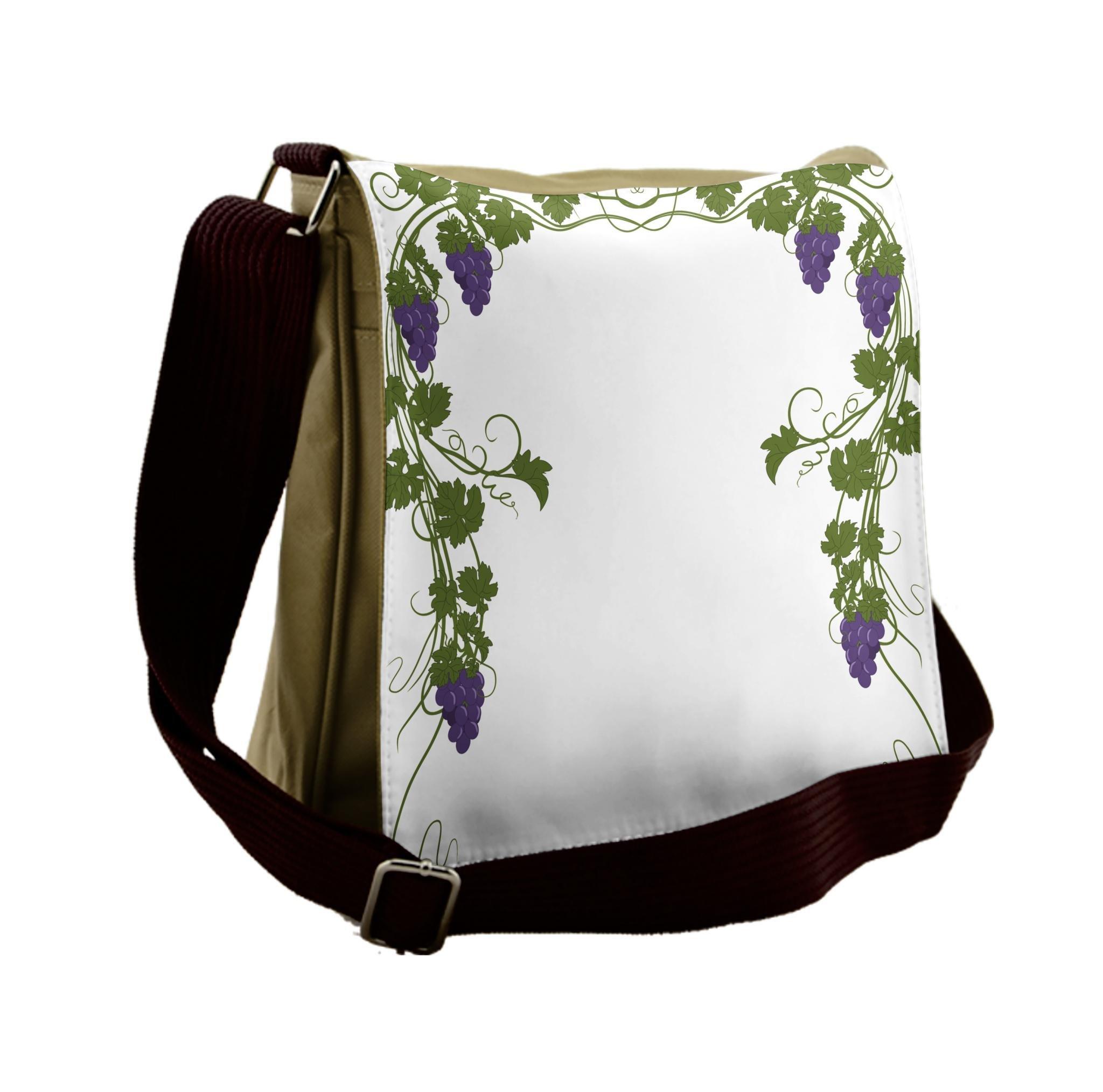 Lunarable Vine Messenger Bag, Wedding Inspired Green Gate, Unisex Cross-body