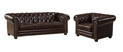 Outstanding Amazon Com Coja By Sofa4Life Mansfield Leather Sofa And Frankydiablos Diy Chair Ideas Frankydiabloscom