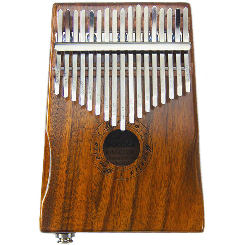 Moozica 17-Key EQ Kalimba, Koa Tone Wood Electric Finger Thumb Piano Built-in Pickup With 6.35mm Audio Interface and Professional Kalimba Bag by Moozica (Image #2)