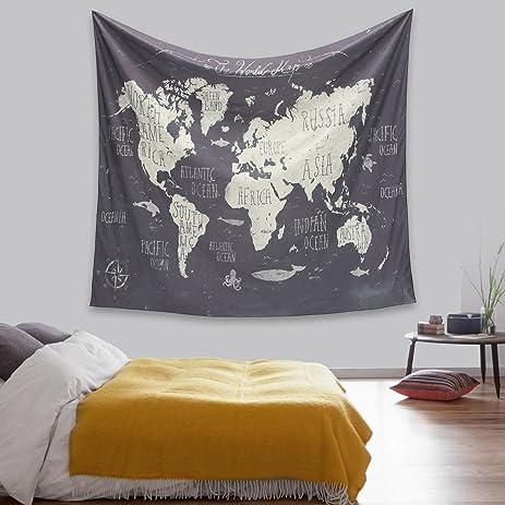 Amazon.com: Jeteven Restoring Ancient Ways World Map Wall Hanging ...