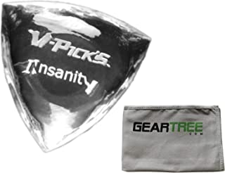 product image for V-Picks Insanity Custom Clear Guitar Pick w/Geartree Cloth