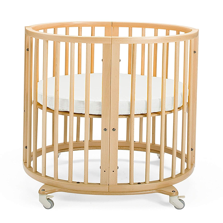 Farbe: White Mitwachsendes Bett f/ür Kinder aus massivem Holz Matratze Inkl Gitterbett in ovaler Form zum Wohlf/ühlen STOKKE/® Sleepi/™ Mini