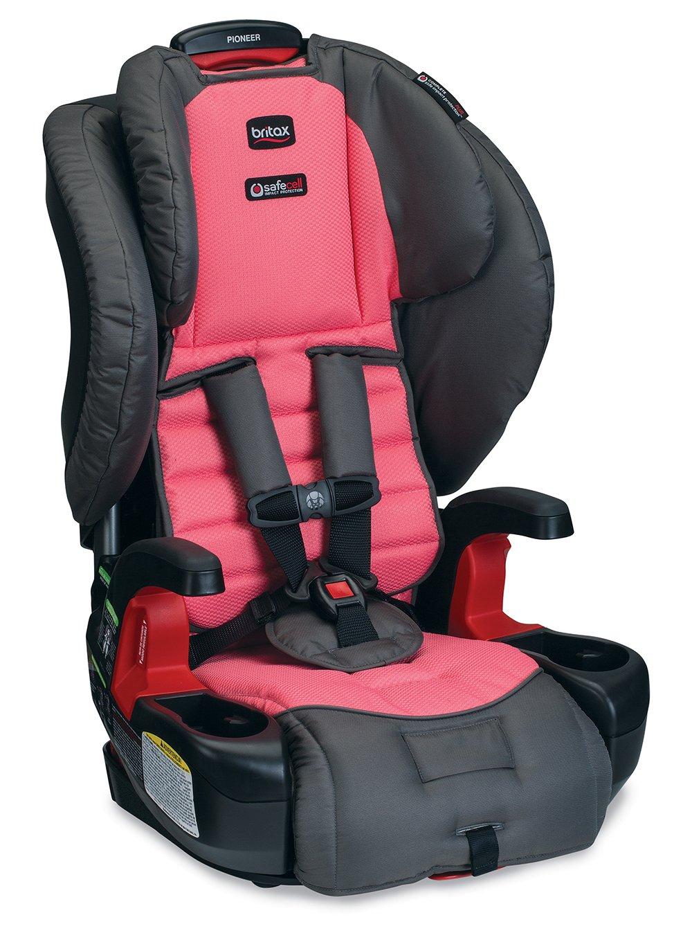 Amazon.com : Britax Pioneer G1.1 Harness-2-Booster Car Seat, Coral ...