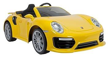 INJUSA-7182 Coche Porsche Color Amarillo (7182