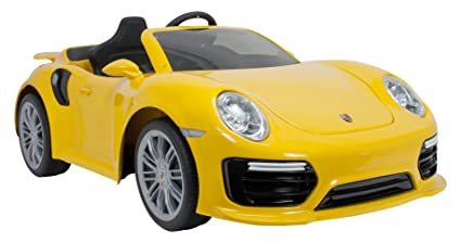 INJUSA-7182 Coche Porsche, Color Amarillo (7182)