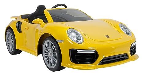INJUSA-7182 Coche Porsche, Color Amarillo (7182)