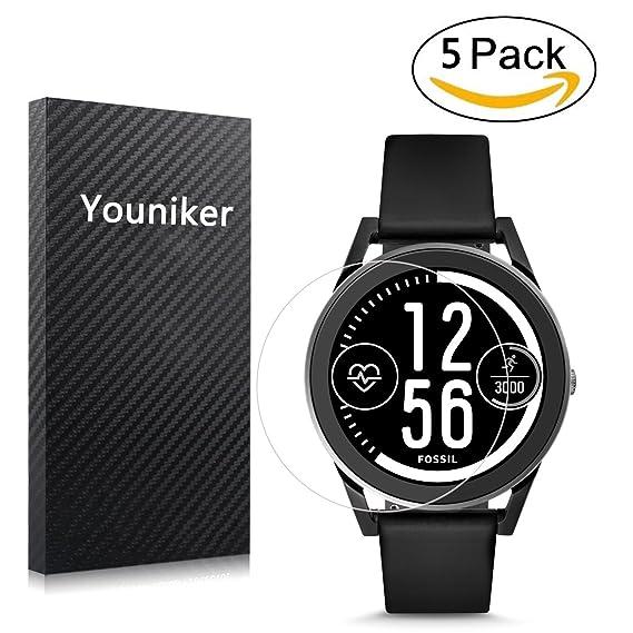 Youniker 5 Pack Fossil Q Control Screen Protector Film, Gen 3 Sport Smartwatch - Q Control Screen Protector Foils Crystal Clear HD, Anti-Scratch, ...