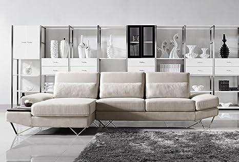 Amazon.com: Divani Casa Yorba - Modern Fabric Sectional Sofa ...