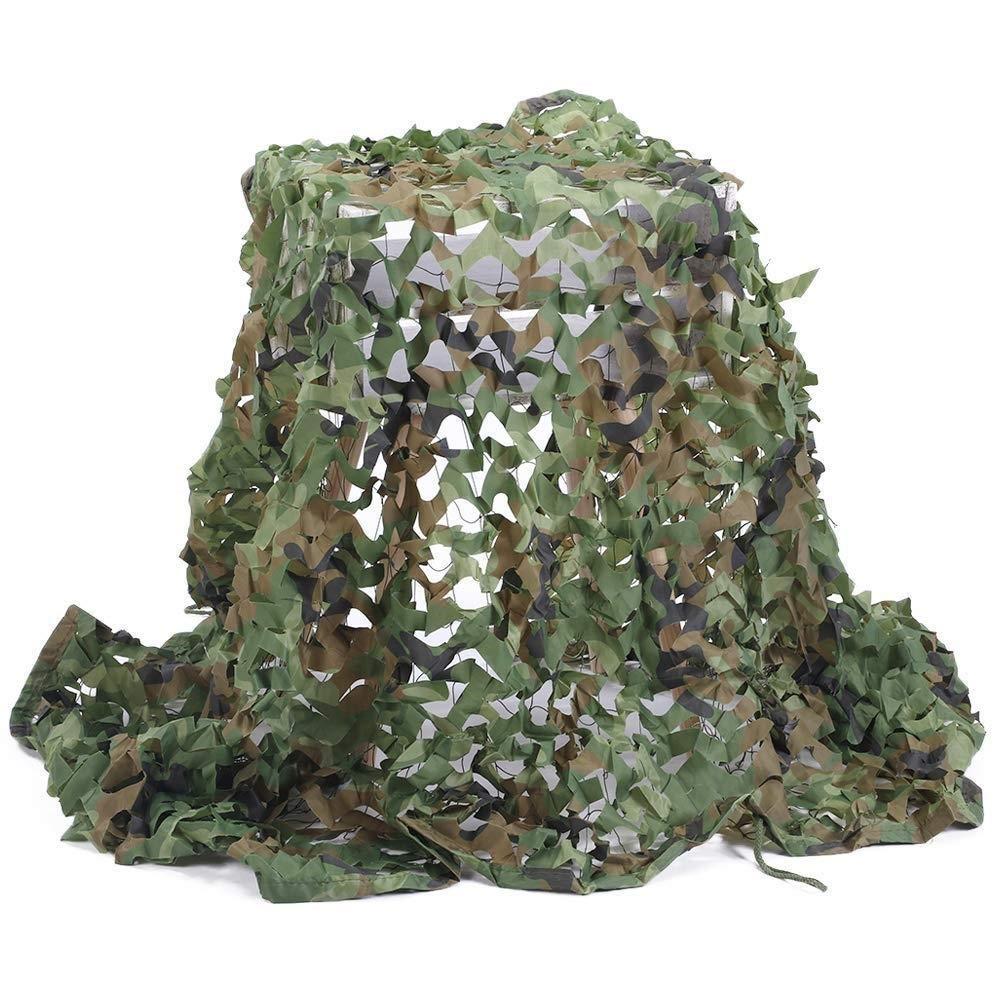 2×3メートル迷彩ネット陸軍射撃迷彩ネットキャンプ隠す軍用森林サンシェードネットオックスフォード生地シェード装飾寝室ガーデンパーティー B07QRT6KCY   6m×10m