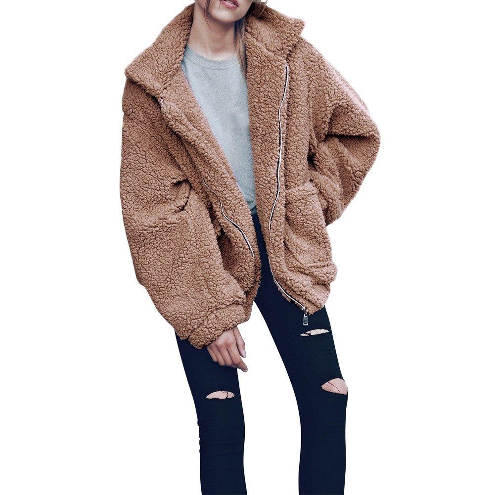 Samber Winter Warm Faux Wool Coat Pregnant Women Artificial Fur Leisure Outwear