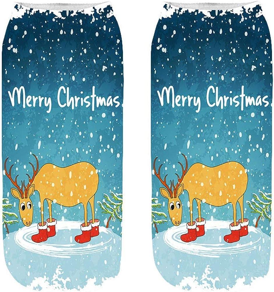 GzxtLTX Ankle Socks Christmas Cartoon Christmas Funny Pattern Printed Christmas