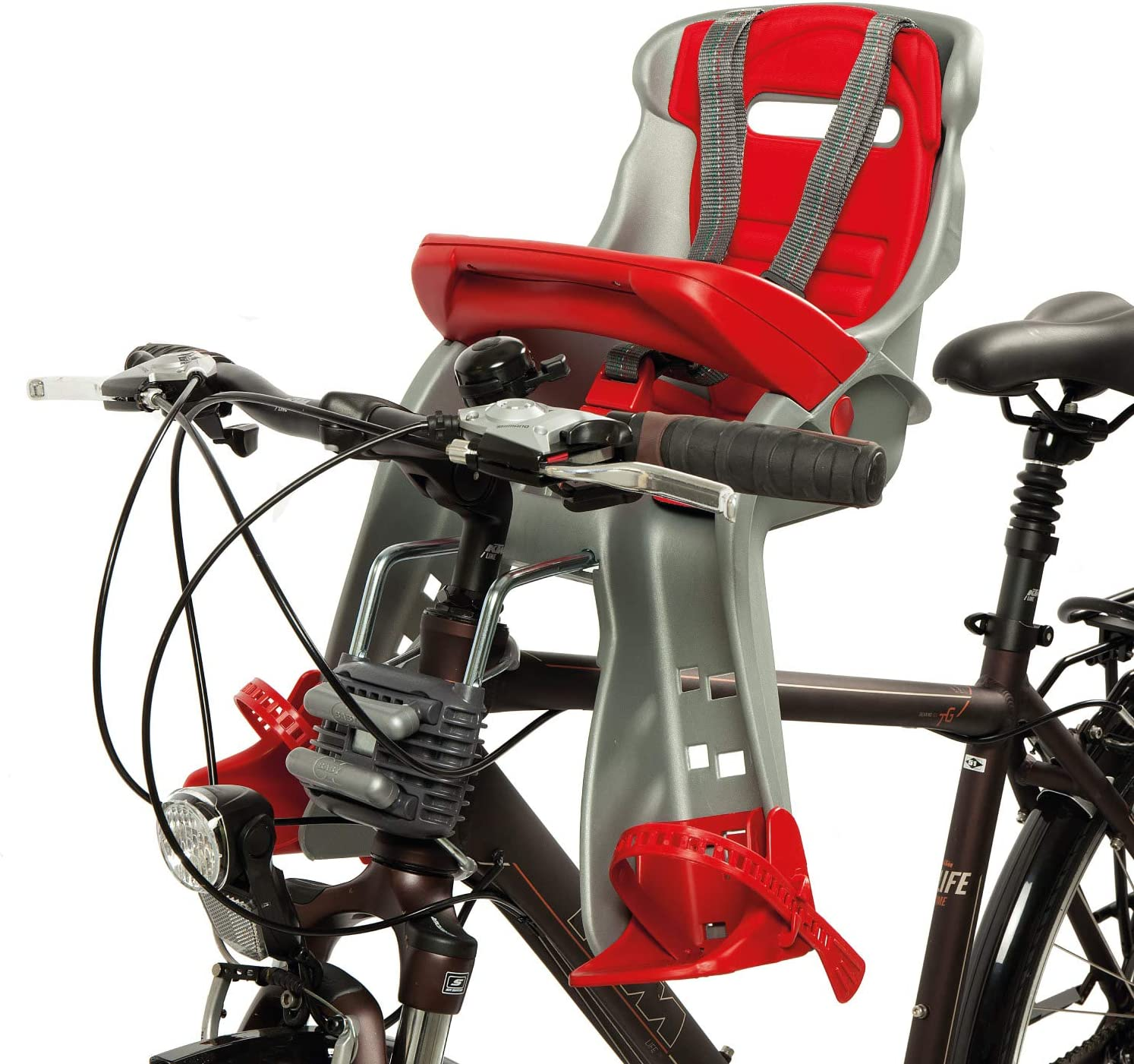 Okbaby Orion Montaje Frontal - Asientos para Bicicleta de niño (450 mm, 330 mm, 540 mm, 2,2 kg): Amazon.es: Deportes y aire libre