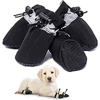 Antideslizante Lienzo Azul Mezclilla Zapatillas para Correr con Cordones Feidaeu Zapatos para Perros para Mascotas Al Aire Libre Protectores para Patas