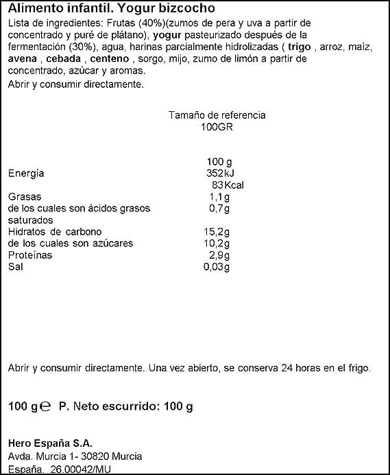 100 g Desayuno Yogur Con Bizcocho: Amazon.es: Alimentación y bebidas