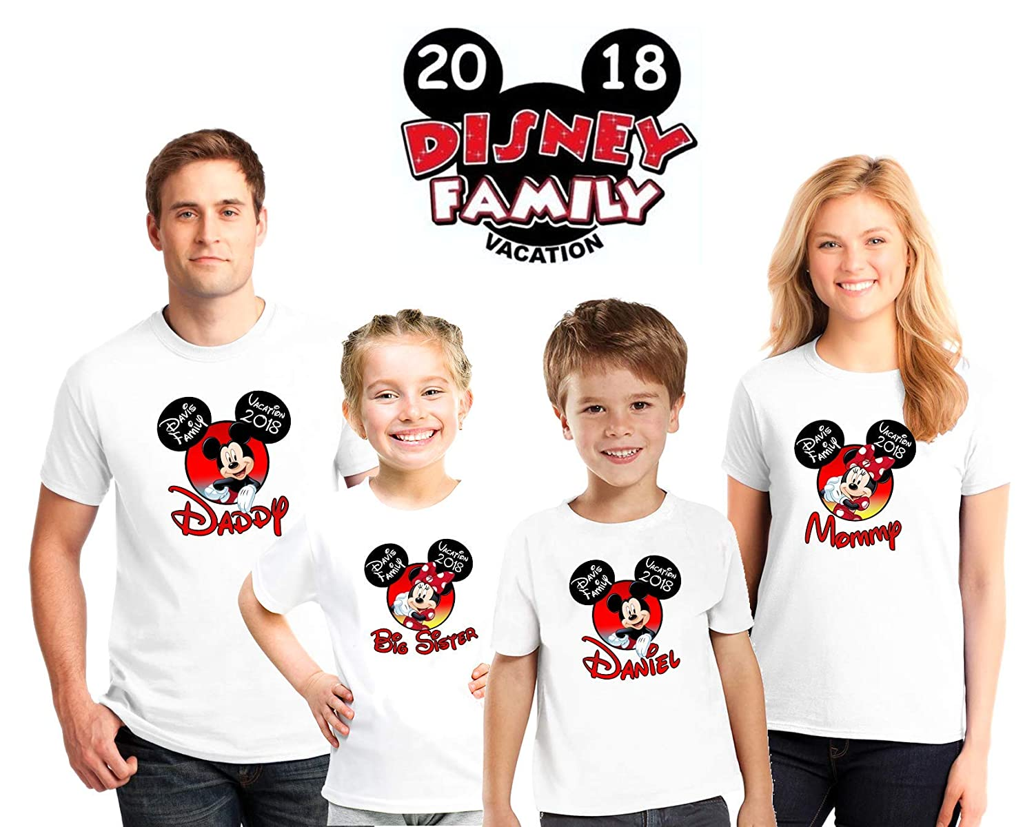 Disney Vacation family matching custom shirts, Family vacation Disney shirts,Mickey Minnie mouse Personalized shirt, Personalized Disney Shirts for Family