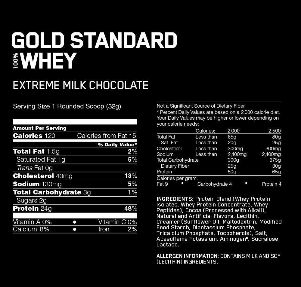 OPTIMUM NUTRITION GOLD STANDARD 100% Whey Protein Powder, Extreme Milk Chocolate, 10 Pound by Optimum Nutrition (Image #2)