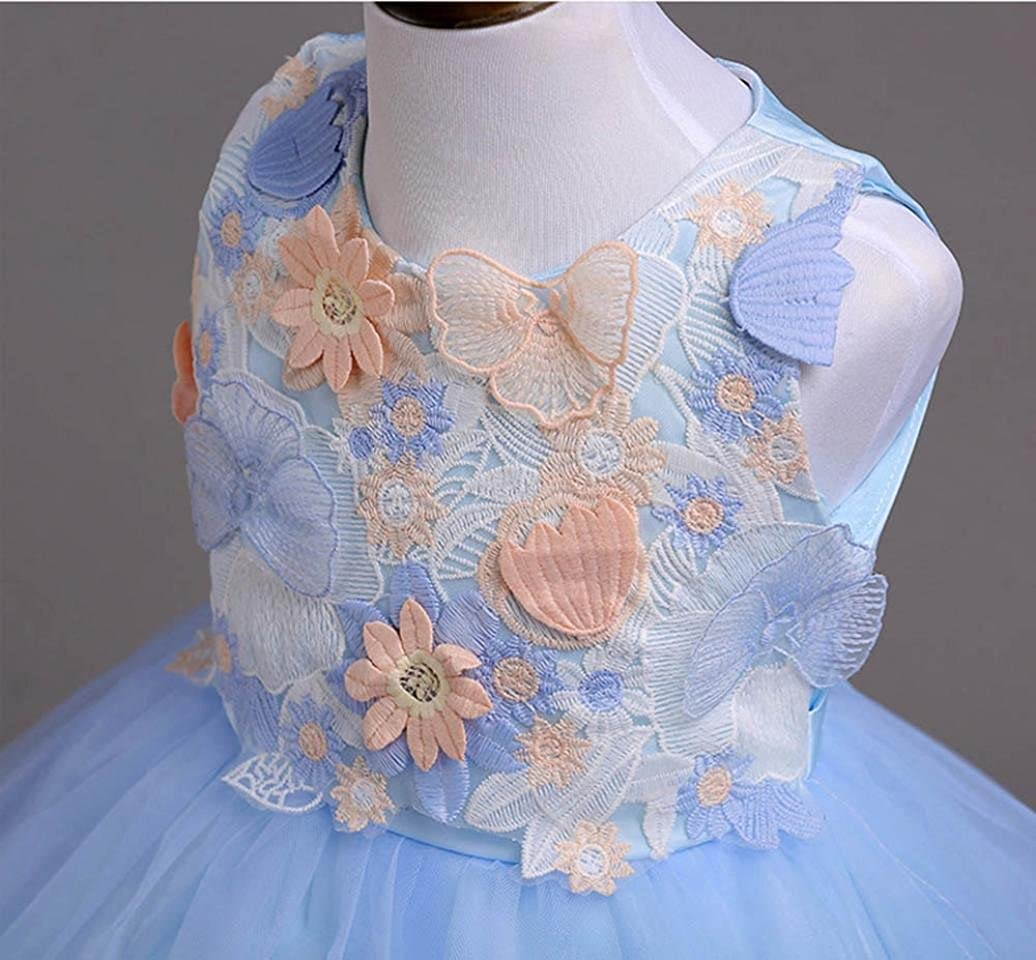 Clode for 3-10 Years Old Fashion Toddler Kids Baby Girls Wedding Flower Dress Lace Princess Party Formal Tutu Dress Summer Clothes
