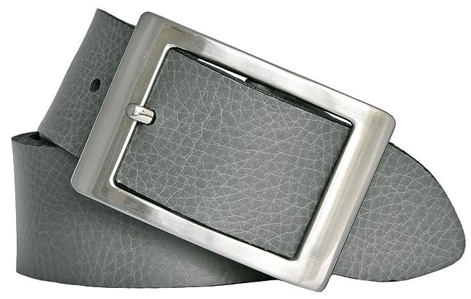 371793009511 Bernd Götz Damen Leder Gürtel 40 mm grau Nappaleder kürzbar Damengürtel (80  cm)