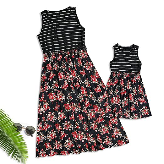 fad2a67d9a3 Image Unavailable. Image not available for. Color  Yaffi PatPat Mommy and  Me Maxi Dresses