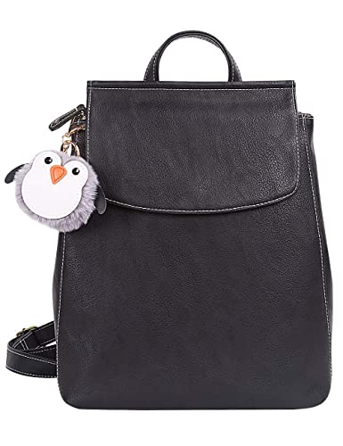 90311e466b Amazon.com  Lily Queen PU Leather Backpack for Women Small Backpack Purse  Fashion Casual Travel Bag Black  Shoes
