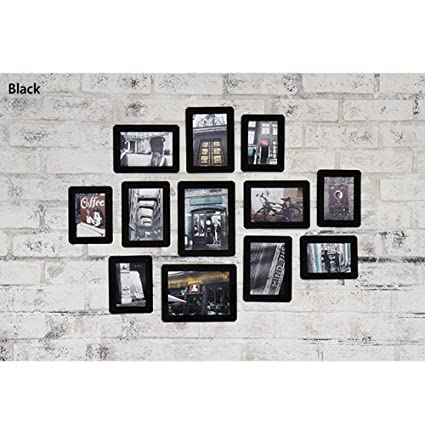 Amazon.com - Paper Photo Frame Sets 12p /3x5, 4x6, 5x7 (Black(white ...