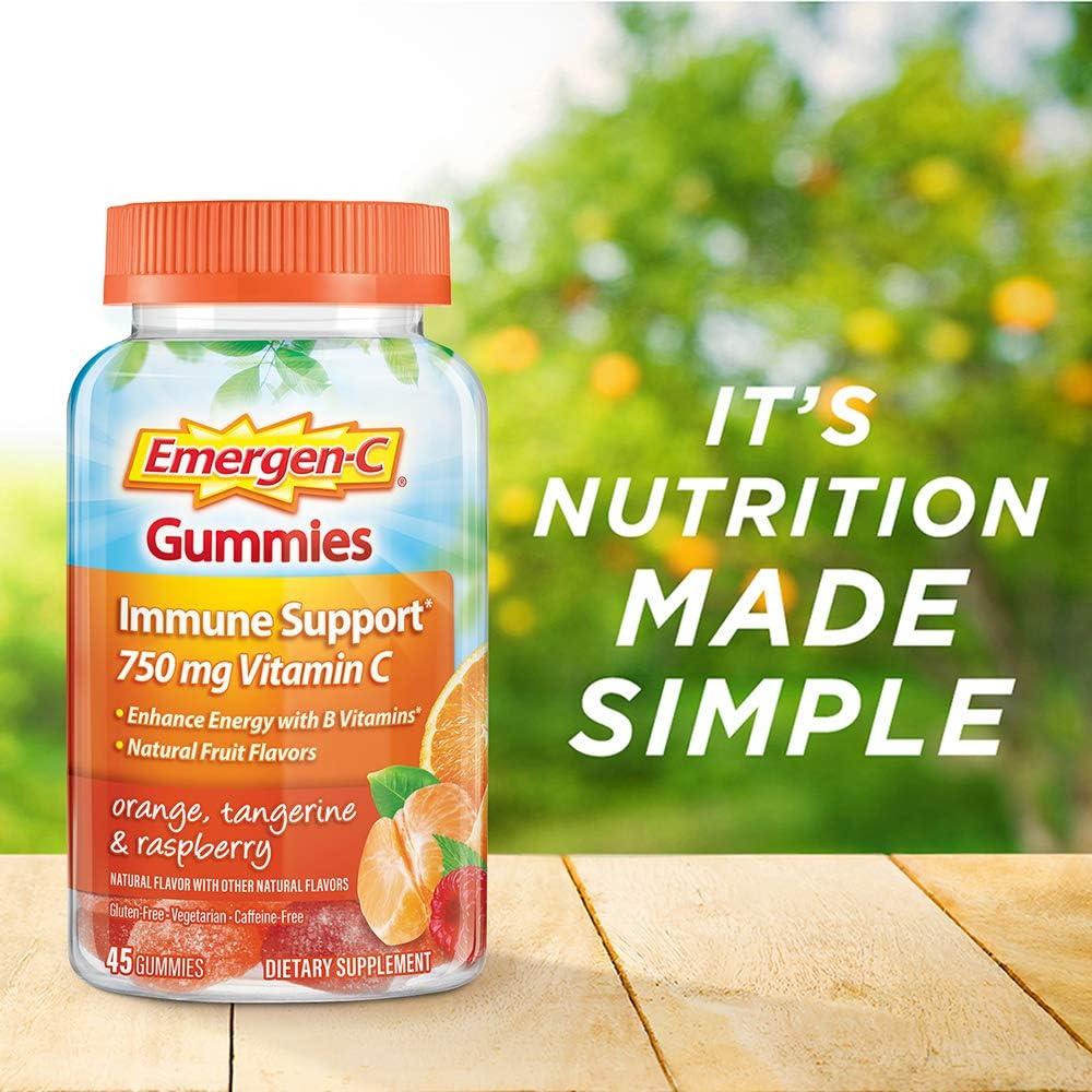 Emergen-C 750mg Vitamin C Gummies for Adults, Immunity ...