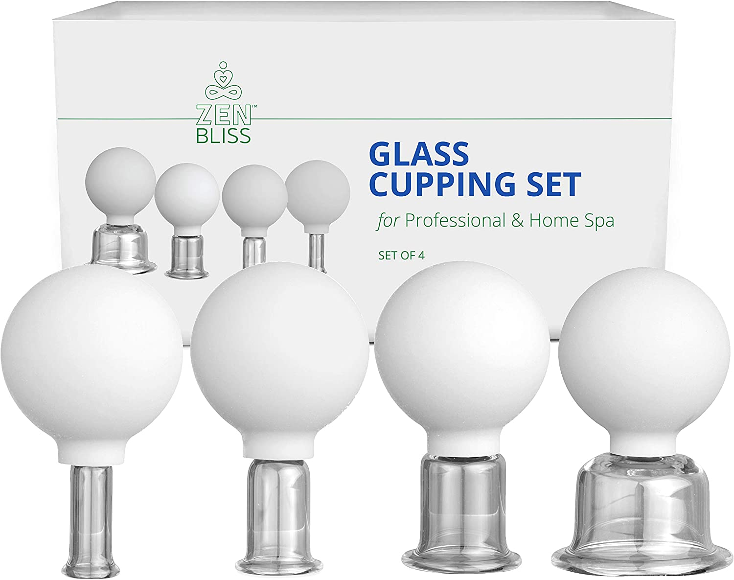 Cupping Therapy Sets Professional Glass - Face Cupping Facial Set and Anti Cellulite Lymphatic Therapy (4)