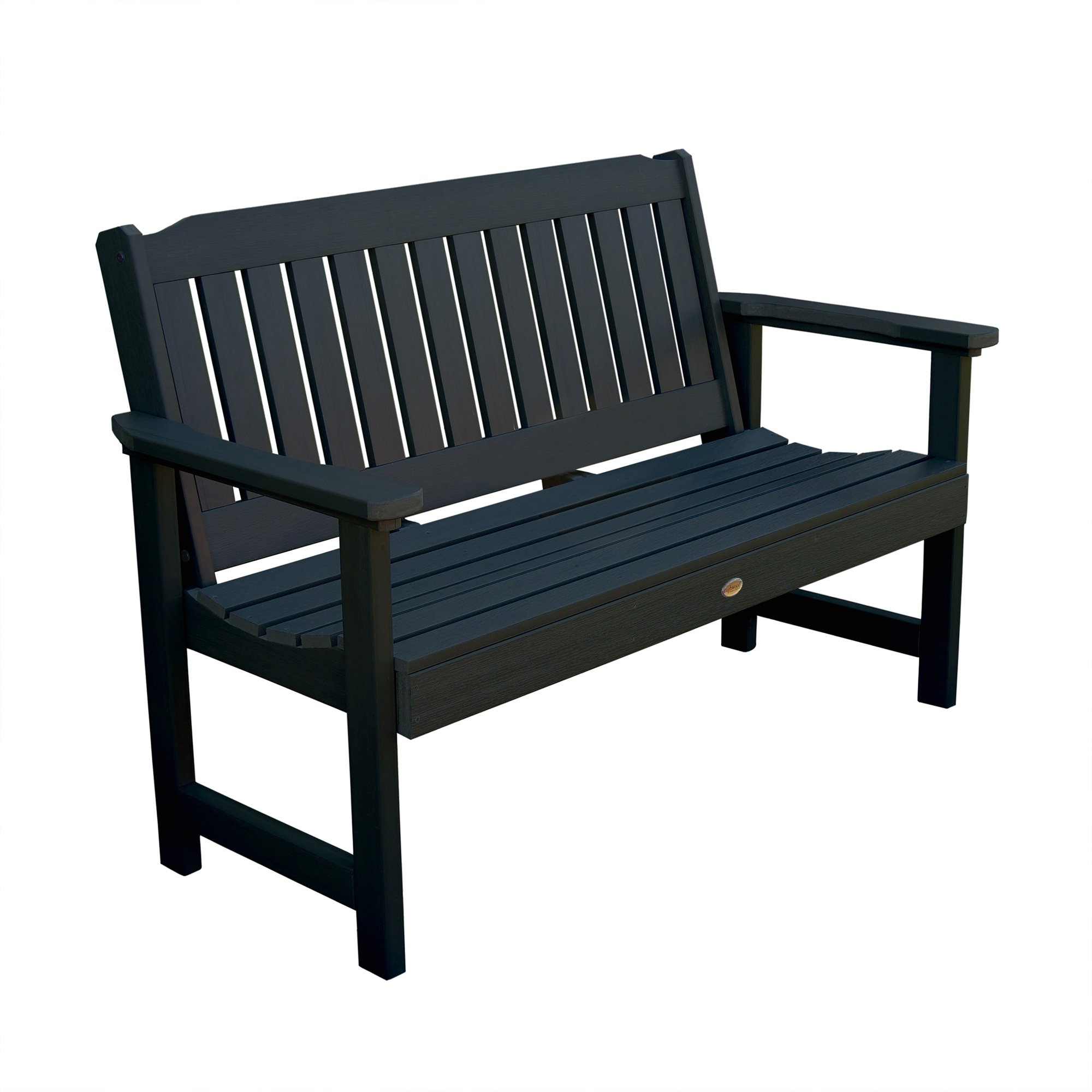Phat Tommy Outdoor Recycled Poly Highwood Lehigh Bench – Made in the USA, Eco-Friendly Patio Furniture