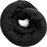 NaPro Comfort 3 in 1 Compact Travel Pillow & Blanket - Black | Includes 100% Breathable Bamboo Infinity Pillow & Square…