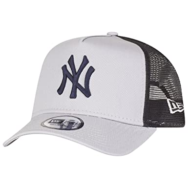 c0707bcc093 New Era Trucker Mesh Cap - REVERSE New York Yankees grey  Amazon.co.uk   Clothing