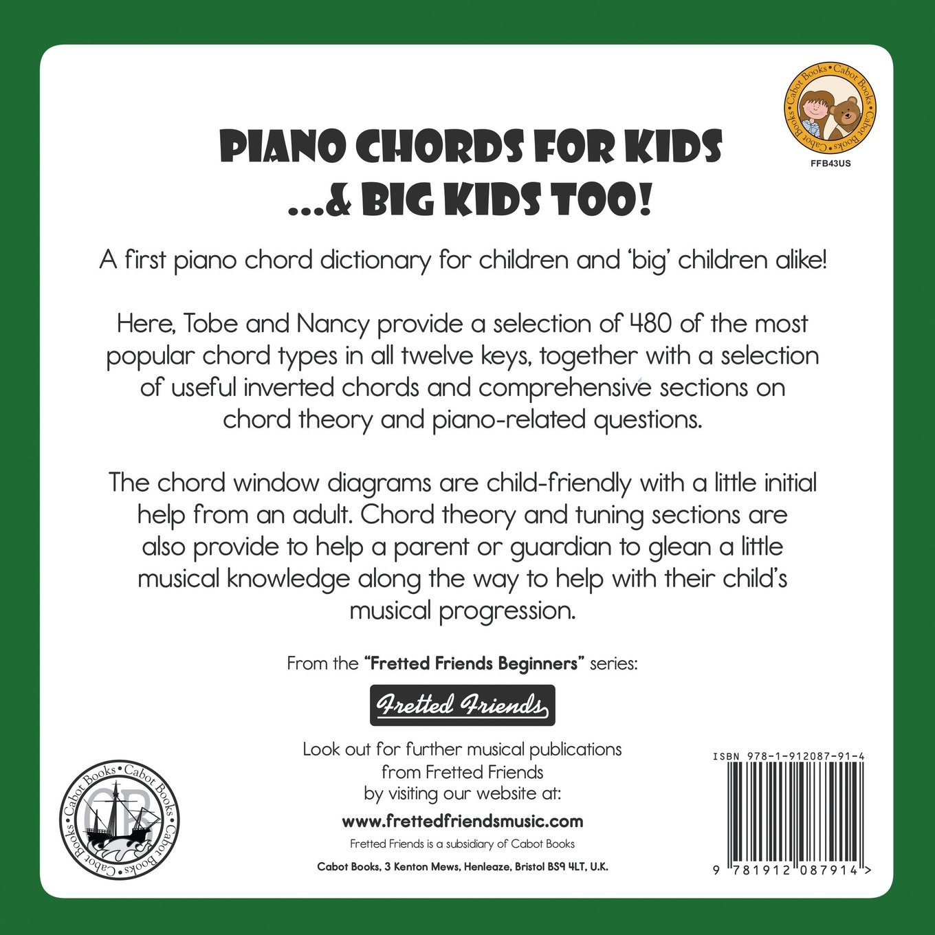 Piano chords for kids big kids too fretted friends piano chords for kids big kids too fretted friends beginnners series tobe a richards nancy eriksson 9781912087914 amazon books hexwebz Images