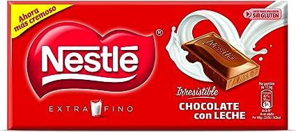 Nestl - Chocolate con Leche Extrafino - Pack de 3 x 125 g - [Pack de 2]: Amazon.es: Alimentación y bebidas
