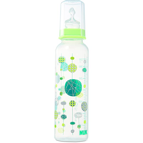 NUK 80601508B Graphic Line - Biberón (330 ml, 6-18 meses), color verde: Amazon.es: Bebé