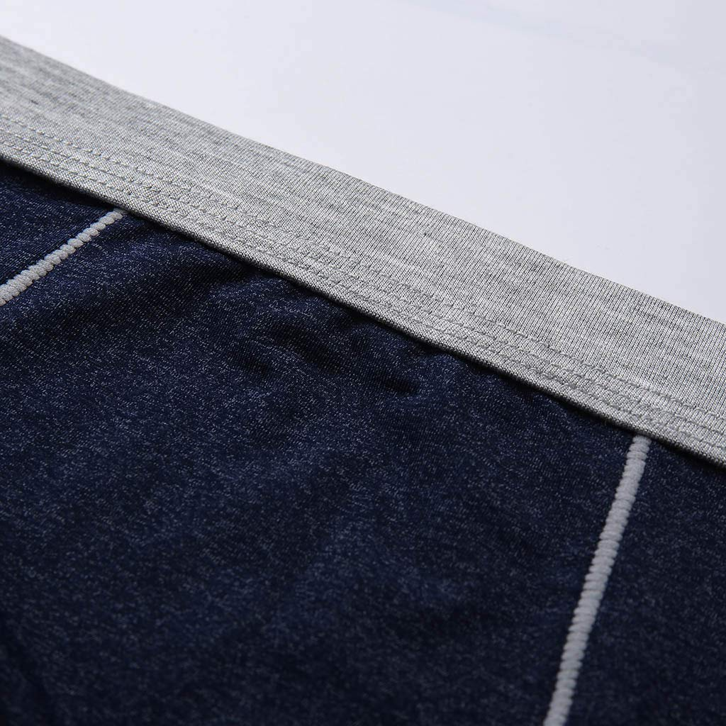 Leoy88 Mens Briefs 4PC Shorts Summer Breathable Ice Silk Non-Slip Comfortable Underpants
