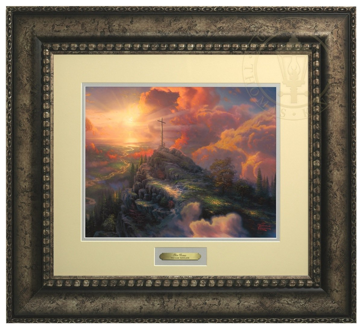 The Cross - Thomas Kinkade Prestige Home Collection (Silver Frame) by Thomas Kinkade