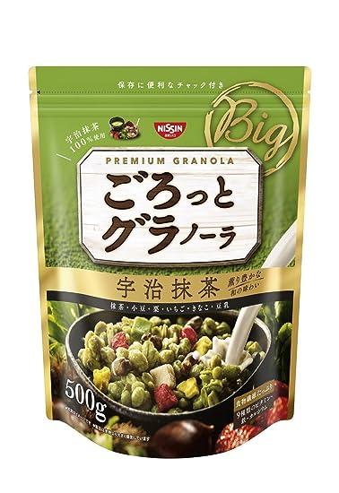 Nisshin - Chunky Japanese Granola with Kyoto Uji Matcha Green tea Flavor 500g (17.63oz