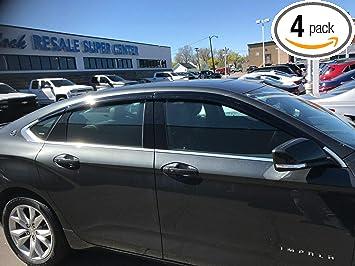 Auto Ventshade 194991 In-Channel Ventvisor Side Window Deflector 4-Piece Set for 2014-2018 Chevrolet Impala