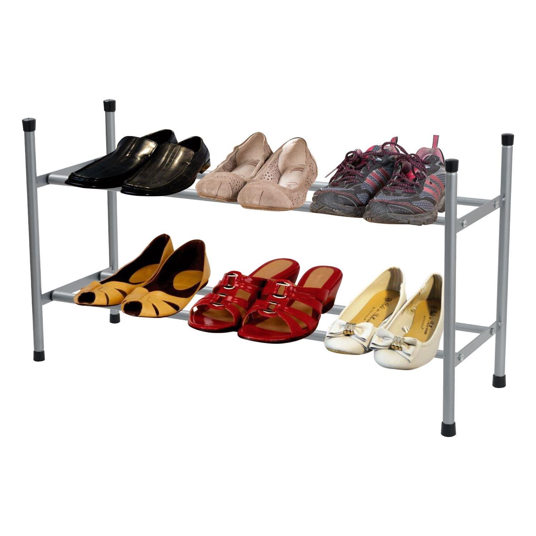 empilable chaussures étages de à Organisateur 2 extensible XZPkuTOi
