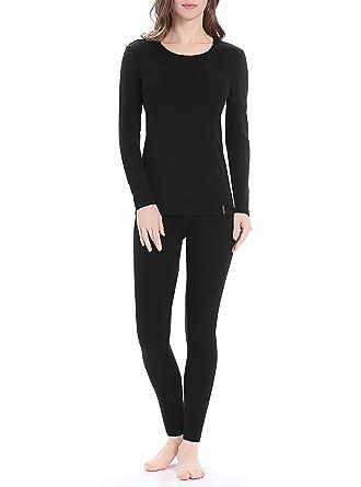 55c8e1e99ce01b Genuwin Women's Thermal Underwear Set Stretchy Cotton Ladies Long Johns  Underwear Women Base Layer S~XL