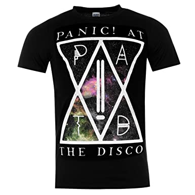 0c38702ca Official Mens Band Merch Panic at The Disco T Shirt Short Sleeve Crew Neck  Tee PATD