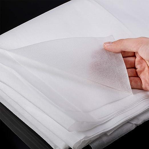 2 Filtros de Telas Blanca desechable No Tejida de 63 x 39 Pulgadas, Tela de Entretela No Tejida Resistente a Salpicaduras Poliéster Ligero para Trabajo Hecho a Mano Artesanía de Bricolaje(Blanco): Amazon.es: