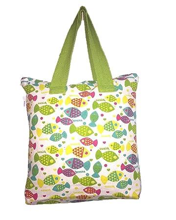 61ddececb KOSKEL Cotton Canvas Shoulder Bag Multi Colour Printed Design 40cm Height  38cm Width: Amazon.in: Home & Kitchen