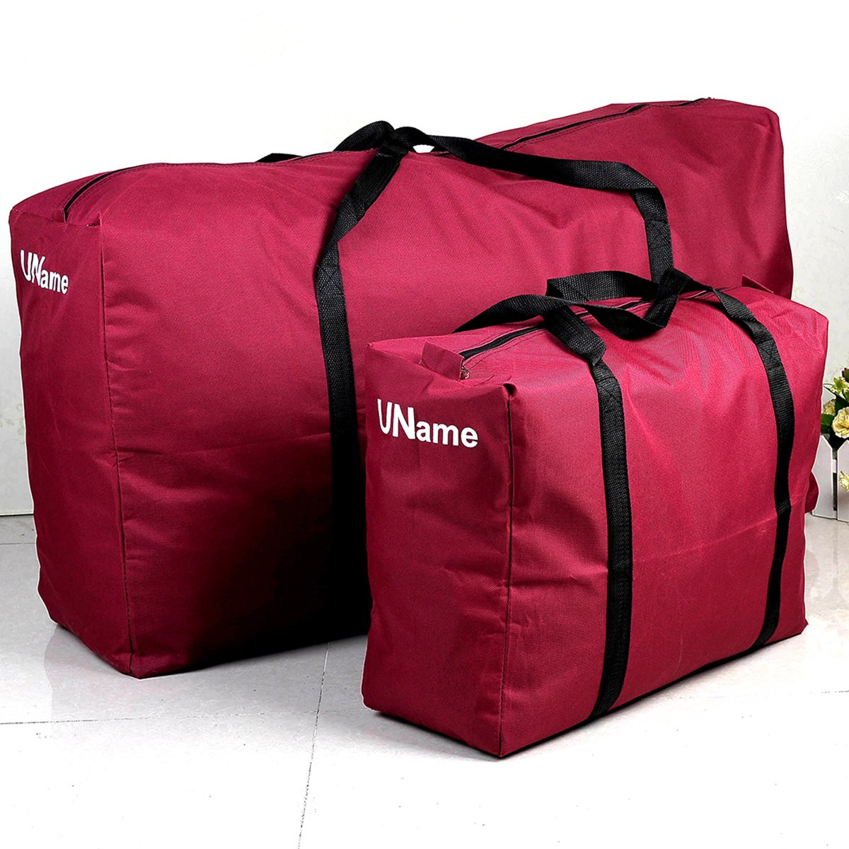 amazon com uname set of 2 extra large jumbo zippered storage bag